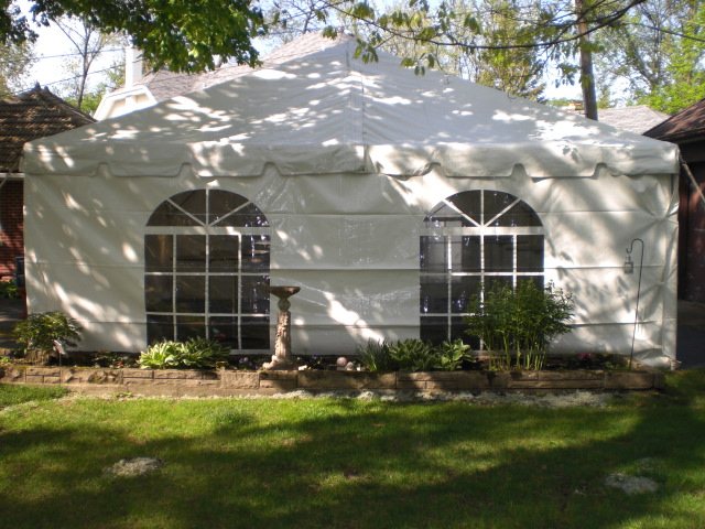 20 x 20 Frame Tent with Catherdral Window Sides