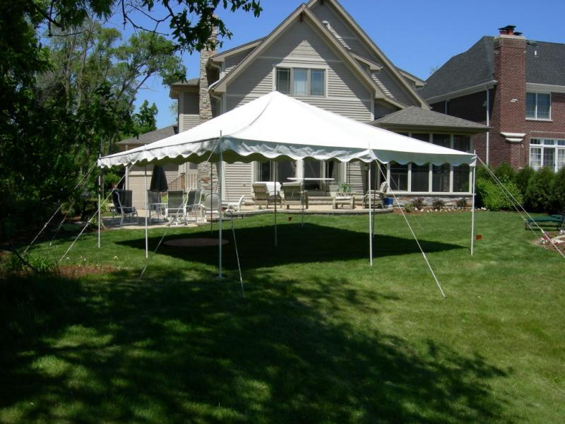 10 x 20 White Gazebo Party Tent Canopy - ATV : Dirt Bike : Scooter